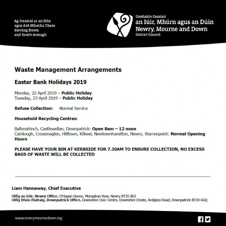 Waste Management Arrangements - Easter Bank Holidays