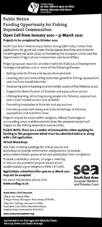 Funding Opportunity for Fishing Dependent Communities