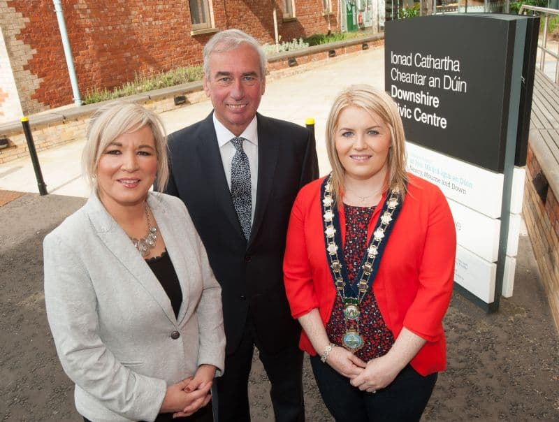 Newry, mourne and down district council Welcomes Dard Minister To Downshire Campus