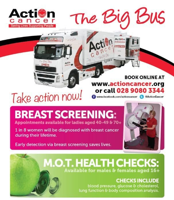 Action Cancer Bus to Visit Crotlieve