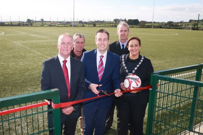 Givan opens new 3G pitch at Ballinran, Kilkeel