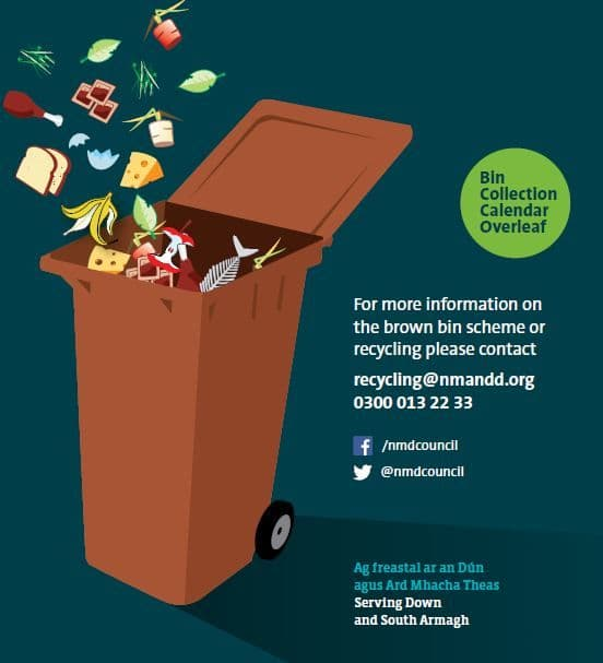 Bin Collection Calendars for Legacy Newry and Mourne District Council and Ballyward Householders