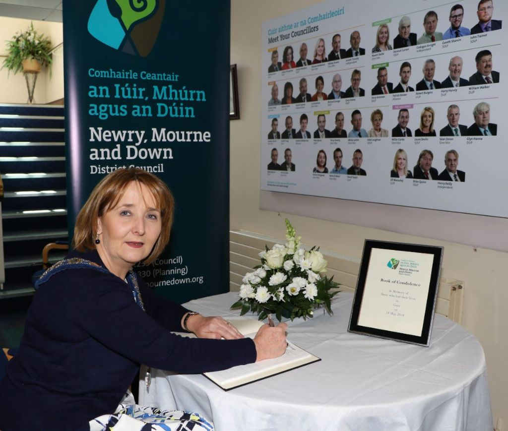 Newry, Mourne and Down District Council Opens Books of Condolence For The Many Recent Deaths In Gaza