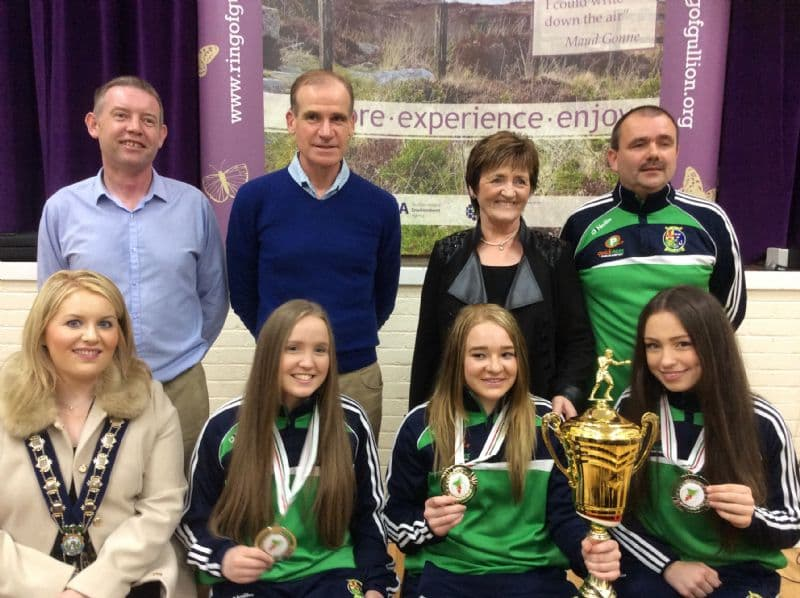 Chairperson hosts reception for local boxing heroes – Amy Broadhurst, Orla Garvey and Shauna O'Callaghan