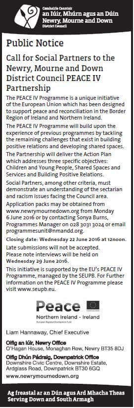 Call for Social Partners for PEACE IV Partnership