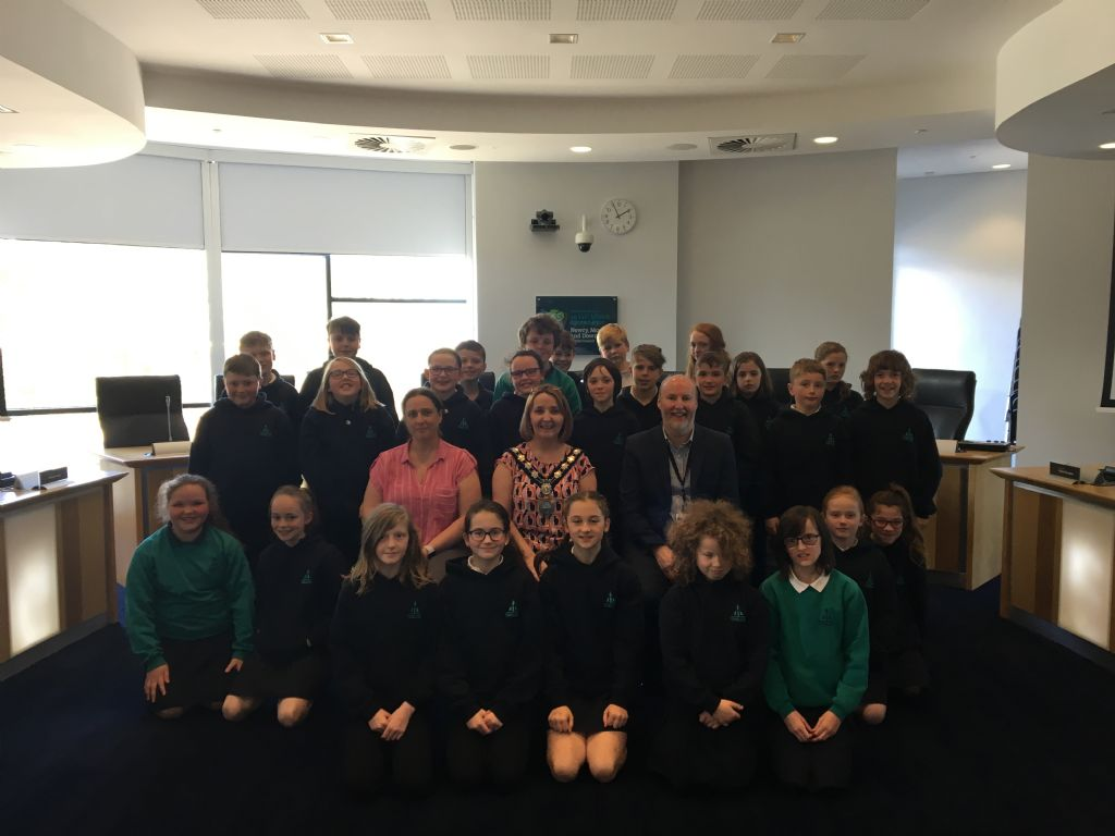 Chairperson Welcomes Cedar Integrated Primary School to Council Chamber
