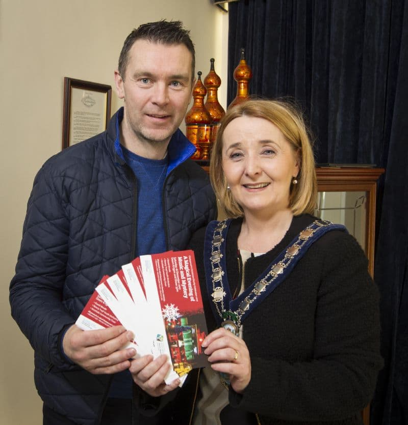 Chairperson Mulgrew with Oisin McConville
