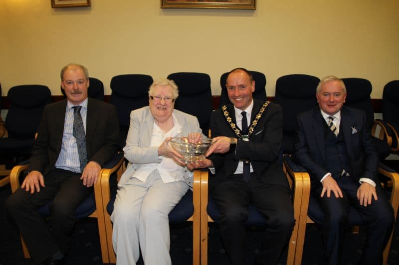Chairperson Hosts Reception for Florence McNulty