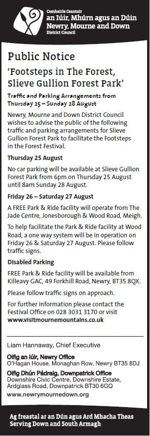 Footsteps in the Forest - Traffic and Parking Arrangements