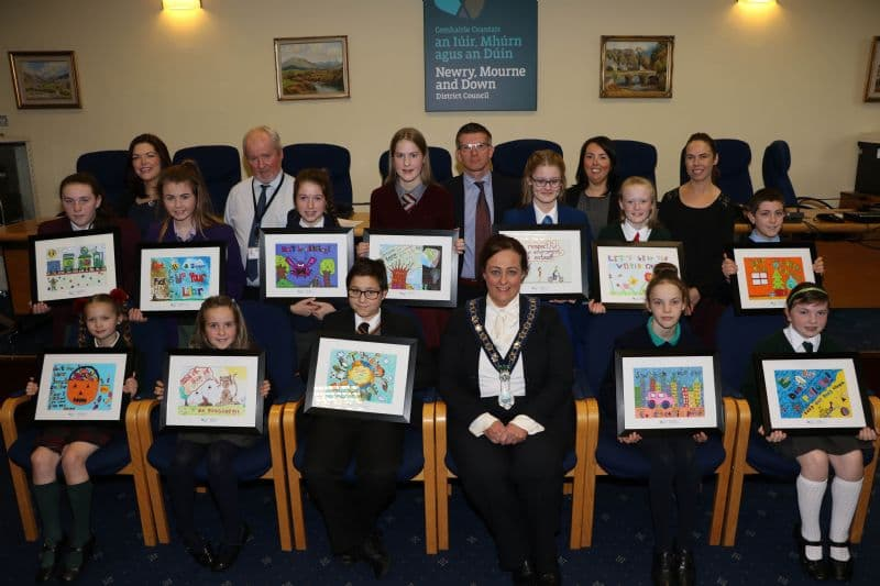 Chairperson Reveals Winners in the Council's Schools' Environmental Calendar Poster Competition