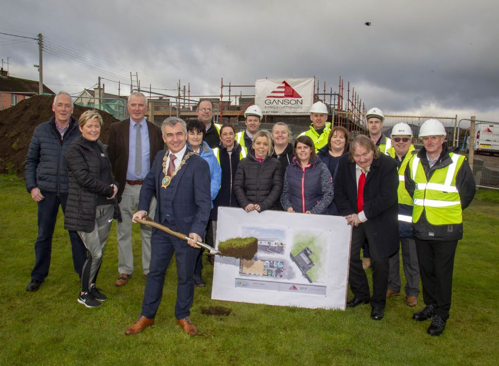 First Sod Cut for New Community Centre Kitty's Road
