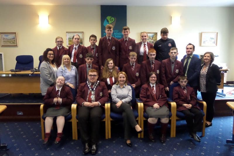 Chairperson Hosts Students from St Paul's High School, Bessbrook