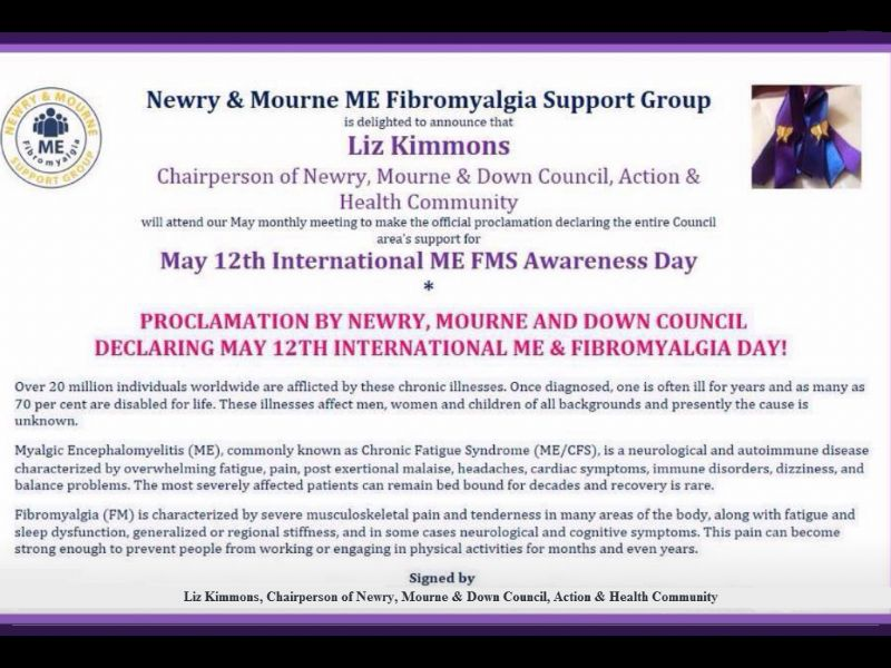 International ME FMS Awareness Day 12th May