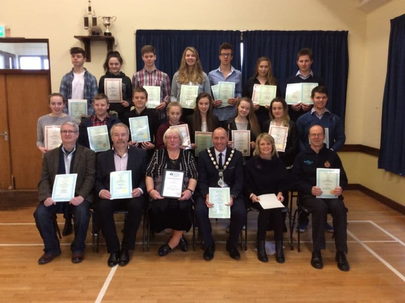 Newry, Mourne and Down District Council Chairperson Presents Life Saving Awards to Members of Night Owl Lifesaving Club