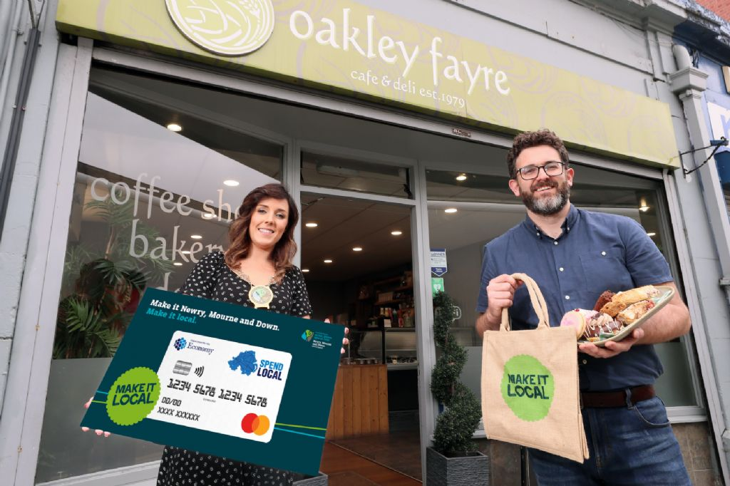 Newry, Mourne and Down District Chair urges people to 'Make It Local' as NI voucher scheme launches