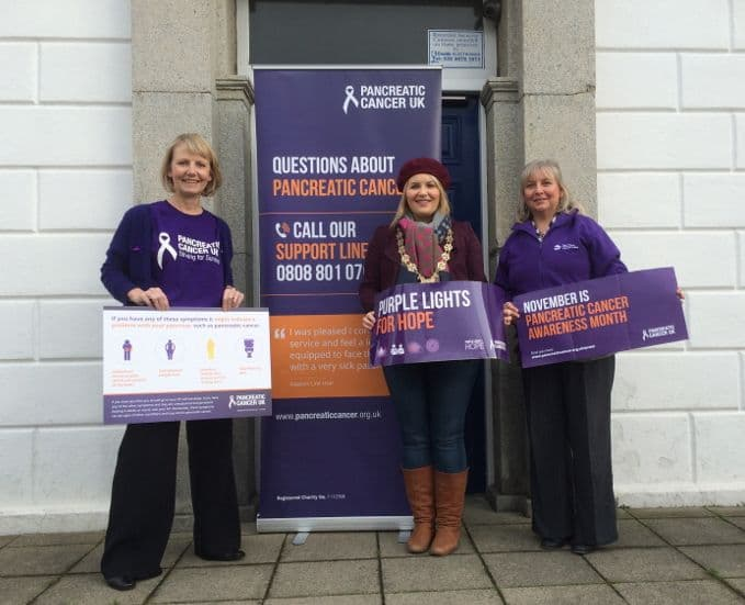 WARRENPOINT TOWN HALL WILL LIGHT UP PURPLE TO RECOGNISE PANCREATIC CANCER AWARENESS MONTH