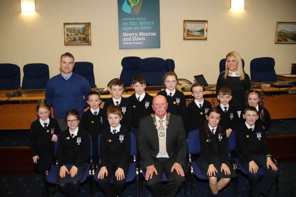 St Mary's Primary School Welcomed to Council Chamber by Chairperson