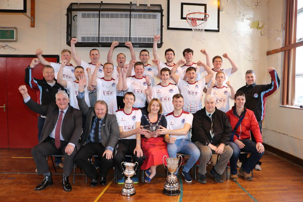 Chairperson Celebrates Ulster Premier League Champions