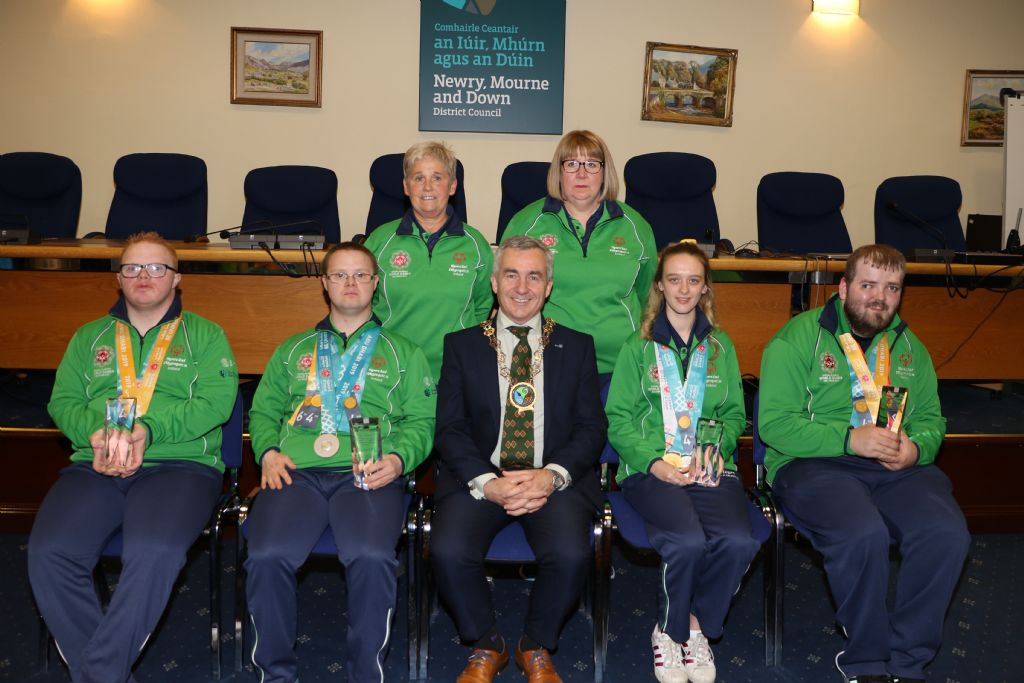 Special Olympic Medal Winners Honoured by Council Chairman
