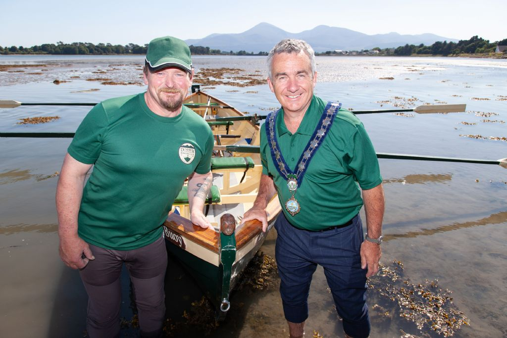pic 1 - (l-r) andrew boyd chair of dundrum coastal rowing club and newry mourne and down district council chair councillo