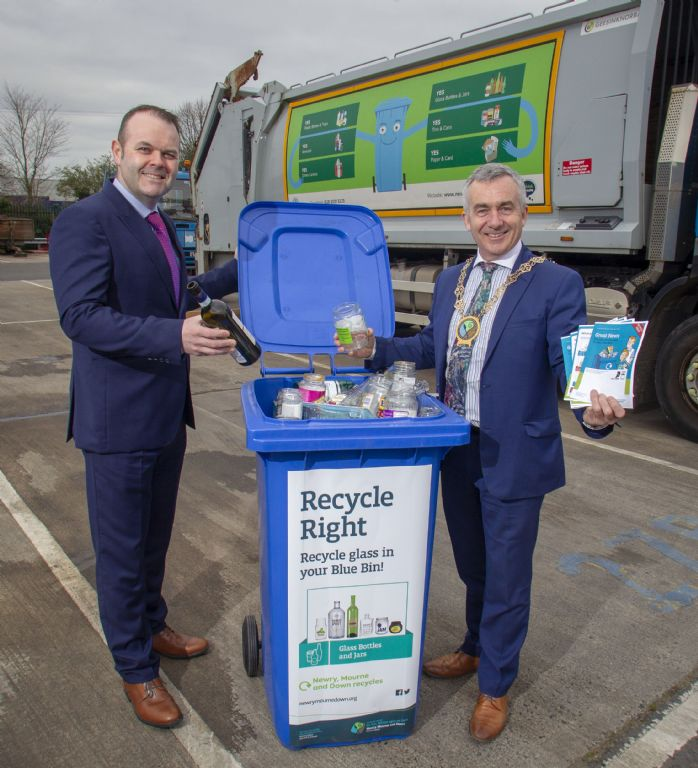 Recycle Glass in Your Blue Bin