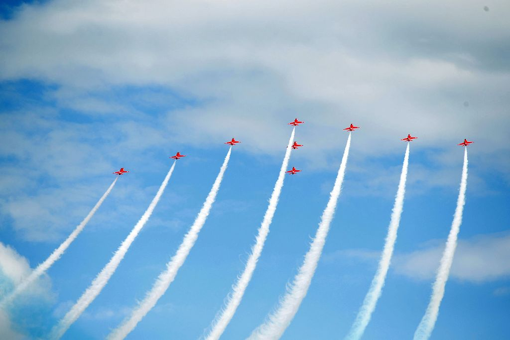 Red Arrows Return to Newcastle as Part of Festival of Flight