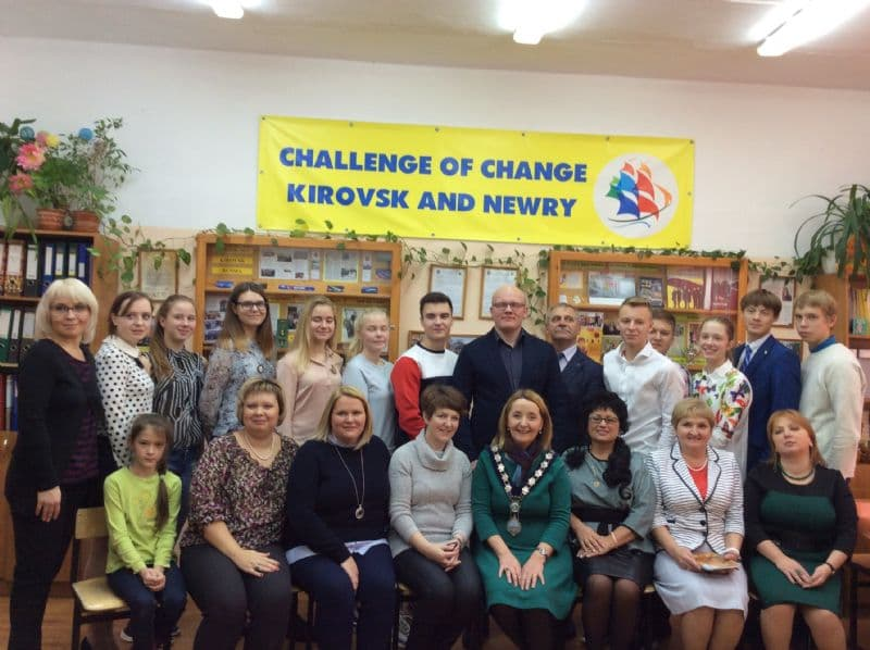 Chairperson and Teacher from St Paul's High School Visit Kirovsk on Challenge of Change Project
