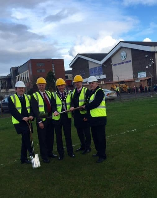 Chairperson Cuts the Sod for New Down Leisure Centre