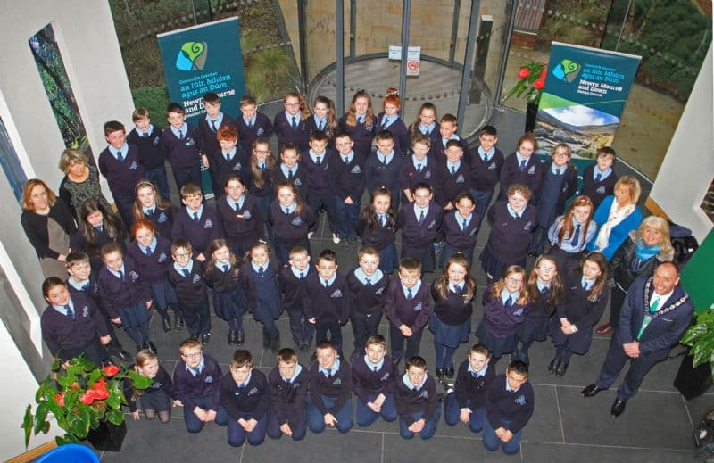Chairperson Hosts Visit of St. Dallan's Primary School, Warrenpoint to Downpatrick
