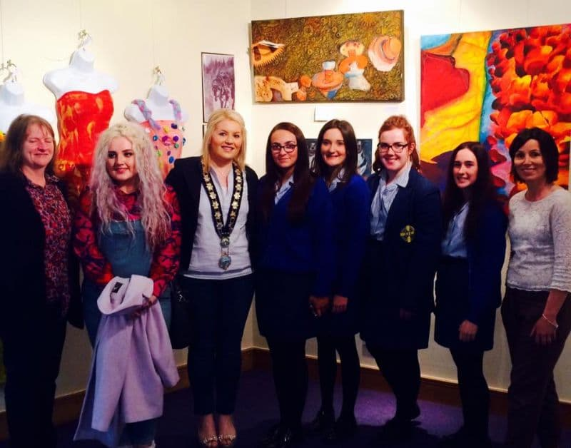 Council Chair Impressed by School Art Exhibition