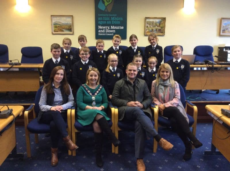 St Mary's Primary School, Barr Welcomed to Council Chamber