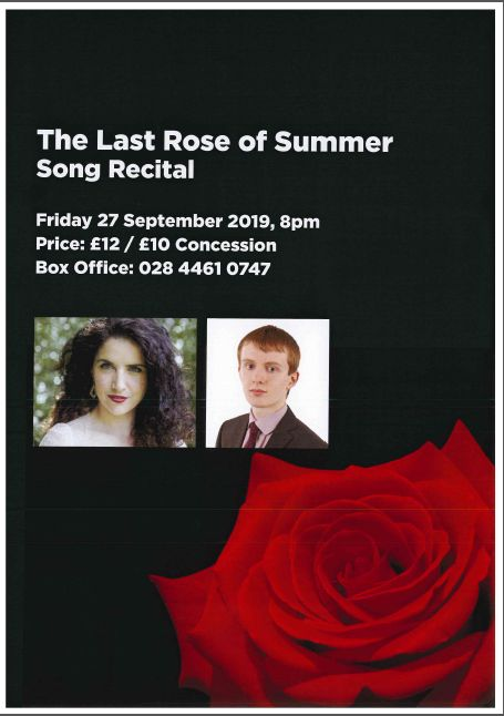 Join Down Arts Centre for The Last Rose of Summer