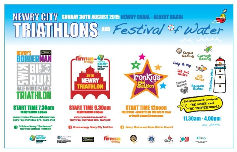 Festival of Water / Triathlons Sunday 30th August 2015